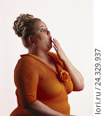 Купить «thick woman, gesture, surprises, page portrait mb 141 A9», фото № 24329937, снято 15 января 2002 г. (c) mauritius images / Фотобанк Лори
