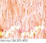 Абстрактный акварельный рисунок, цветы. Стоковое фото, фотограф Бережная Татьяна / Фотобанк Лори