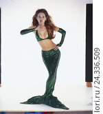 Купить «Mermaid, gesture, silence, quiet, studio cut out, mermaid, woman, young, hairs, red, red-haired, costume, lining, green, water mind, fairy tale shape,...», фото № 24336509, снято 30 ноября 2001 г. (c) mauritius images / Фотобанк Лори