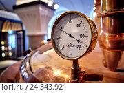Купить «Brewery, brewing copper, thermostat», фото № 24343921, снято 20 июля 2018 г. (c) mauritius images / Фотобанк Лори