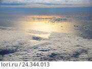 Купить «Aerial shots, sundown with cloudy heaven over the sea, recorded over the Atlantic close the Canary islands,», фото № 24344013, снято 22 августа 2018 г. (c) mauritius images / Фотобанк Лори
