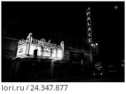 Купить «LA Noir: Downtown Los Angeles at Night - Palace Theatre Marquee on Broadway», фото № 24347877, снято 18 августа 2018 г. (c) mauritius images / Фотобанк Лори