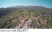 Купить «Aerial view on Shwe Inn Thein Paya temple, Myanmar», видеоролик № 24363877, снято 17 ноября 2016 г. (c) Михаил Коханчиков / Фотобанк Лори