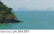 Купить «Rock coast and sea, Koh Lanta, Thailand, 4k», видеоролик № 24364581, снято 28 октября 2016 г. (c) Михаил Коханчиков / Фотобанк Лори