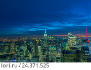 Купить «New York - DECEMBER 20, 2013: View of Lower Manhattan on Decembe», фото № 24371525, снято 20 декабря 2013 г. (c) Elnur / Фотобанк Лори