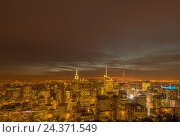 Купить «New York - DECEMBER 20, 2013: View of Lower Manhattan on Decembe», фото № 24371549, снято 20 декабря 2013 г. (c) Elnur / Фотобанк Лори