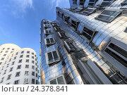 Купить «Europe, North Rhine-Westphalia, Düsseldorf, media harbour, Gehry buildings», фото № 24378841, снято 12 декабря 2017 г. (c) mauritius images / Фотобанк Лори