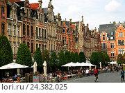 Купить «Belgium, Flanders, Flemish Brabant, Leuven, Louvain, Oude market», фото № 24382025, снято 22 августа 2018 г. (c) mauritius images / Фотобанк Лори