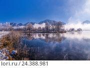 Купить «Germany, Bavaria, Upper Bavaria, Tölzer Land (area), Schlehdorf by the Kochelsee, lakeside of the Kochelsee», фото № 24388981, снято 23 июля 2018 г. (c) mauritius images / Фотобанк Лори