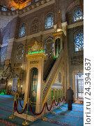 Купить «Istanbul, Sirkeci, Yeni Camii or new mosque, called also valid sultan's mosque», фото № 24394637, снято 17 августа 2018 г. (c) mauritius images / Фотобанк Лори