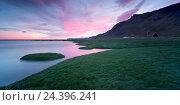 Купить «Iceland, Vestfirir, west fjords, Atlantic Ocean,», фото № 24396241, снято 28 мая 2018 г. (c) mauritius images / Фотобанк Лори