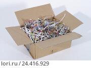 Купить «Cardboard, opened, envelope material, box, envelope cardboard, envelope, package, openly, paper, chopped, films, paper scraps, brightly, colourfully, in...», фото № 24416929, снято 29 сентября 2004 г. (c) mauritius images / Фотобанк Лори