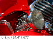 Купить «Old-timers, red, bonnet openly, detail, radiator grille, headlight vehicle, car, old, historically, nostalgically, nostalgia, old, in an old-fashioned...», фото № 24417677, снято 10 ноября 2004 г. (c) mauritius images / Фотобанк Лори