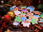 Christmas cookies on a wooden table., фото № 24419365, снято 30 ноября 2016 г. (c) Gennadiy Poznyakov / Фотобанк Лори
