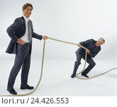 Купить «Competition, business people, age difference, tug war, professions, studio, cut out, force fairs, contention, competitor, competition, opposite party,...», фото № 24426553, снято 27 сентября 2000 г. (c) mauritius images / Фотобанк Лори