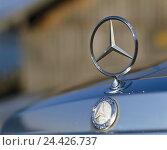 Купить «Bonnet, Mercedes Stern, passenger car, vehicle, Mercedes-Benz, radiator grille, headlight, lights, radiators, radiator bonnet, emblem, star, brand name...», фото № 24426737, снято 5 декабря 2006 г. (c) mauritius images / Фотобанк Лори