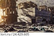 Купить «Ruins of a city», иллюстрация № 24429605 (c) Виктор Застольский / Фотобанк Лори