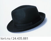 Купить «Felt hat, black care, headgear, Accessoire, plain, product photography, studio», фото № 24435881, снято 11 декабря 2002 г. (c) mauritius images / Фотобанк Лори