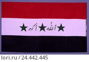 Купить «Flag, Iraq, the Near East, flag, cut out, product photography, national colours», фото № 24442445, снято 22 сентября 2018 г. (c) mauritius images / Фотобанк Лори