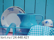 Купить «Draining basket, dishes, dish towel, household, housework, culinary implements, dishes basket, draining grid, dishes-draining basket, dishes draining basket...», фото № 24448421, снято 8 ноября 2005 г. (c) mauritius images / Фотобанк Лори