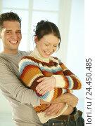 Купить «Couple, young, embrace, happy, blur, 20-30 years, partnership, respect, friendship, touch, tenderness, affection, allowance, love, happy, joy, fun, amusement...», фото № 24450485, снято 1 марта 2004 г. (c) mauritius images / Фотобанк Лори
