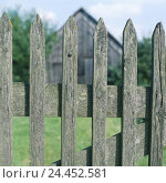 Купить «Barn, fence, wooden bars, detail, building, wooden barn, wooden fence, paling, gate, input, goal, bar goal, rurally, rural, rustic, icon, containment, limitation, demarcation, exclusion, margin, view», фото № 24452581, снято 11 октября 2005 г. (c) mauritius images / Фотобанк Лори