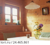 Купить «Residential room, detail, table, flower vase room, farmhouse parlour, cuisine, living space, dining area, corner seat, dining table, wooden piece furniture...», фото № 24465861, снято 17 августа 2004 г. (c) mauritius images / Фотобанк Лори