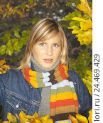 Купить «Wood, woman, scarf, view camera, half portrait, autumn, 20-30 years, 23 years, blond, leisurewear, autumn walk, walk, autumn wood, leisure time, activity...», фото № 24469429, снято 16 ноября 2005 г. (c) mauritius images / Фотобанк Лори