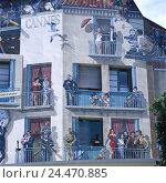 Купить «France, Riviera, Côte d'Azur, Cannes, cinema, facade, detail, wall painting, Europe, France, coast, Département Alpes-Maritimes, Mediterranean coast, French...», фото № 24470885, снято 26 сентября 2005 г. (c) mauritius images / Фотобанк Лори