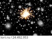 Купить «sparkler or bengal light burning over black», фото № 24492953, снято 18 ноября 2015 г. (c) Syda Productions / Фотобанк Лори