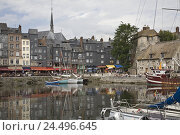 "Купить «France, Normandy, Honfleur, old harbour, ""Vieux basin"", town, townscape, port, houses, buildings, picturesquely, old, harbour basins, boots, Idyll, sailboats...», фото № 24496645, снято 3 марта 2008 г. (c) mauritius images / Фотобанк Лори"