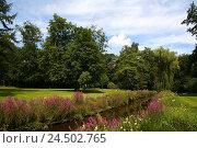 Купить «Germany, Lower Saxony, Oldenburg, castle garden,», фото № 24502765, снято 24 июня 2009 г. (c) mauritius images / Фотобанк Лори