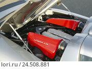 Купить «Gemballa Porsche, 'Mirage GT', silver, engine compartment», фото № 24508881, снято 7 марта 2008 г. (c) mauritius images / Фотобанк Лори