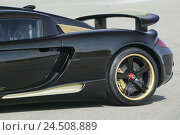 Купить «Gemballa Porsche 'Mirage GT', black, rear side view», фото № 24508889, снято 7 марта 2008 г. (c) mauritius images / Фотобанк Лори