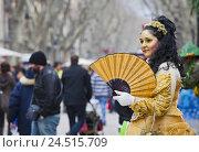 Купить «Spain, Catalonia, Barcelona, La Rambla, person,», фото № 24515709, снято 15 августа 2018 г. (c) mauritius images / Фотобанк Лори