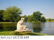 Купить «Germany, Saxony-Anhalt, Dessau-Wörlitz, garden empire, park, sculpture mussel seeker,», фото № 24518649, снято 7 января 2010 г. (c) mauritius images / Фотобанк Лори