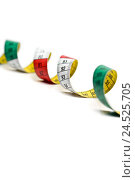 Купить «Tape measure, unrolled, spiral, brightly, cut-out, blur,», фото № 24525705, снято 18 июля 2018 г. (c) mauritius images / Фотобанк Лори