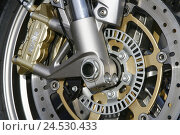 Купить «Motorcycle wheel rim, front wheel, brake, no property release,», фото № 24530433, снято 15 ноября 2008 г. (c) mauritius images / Фотобанк Лори