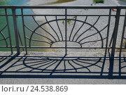 Купить «Balustrade, forged, detail,», фото № 24538869, снято 25 сентября 2018 г. (c) mauritius images / Фотобанк Лори