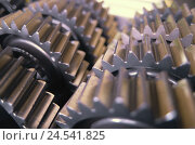 Купить «Gearwheels, detail, machine, prefabricated part, mechanics, interlocks, rotate into each other, mechanically, drive, mechanism,», фото № 24541825, снято 5 ноября 2008 г. (c) mauritius images / Фотобанк Лори