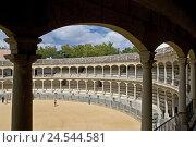 Купить «Spain, province Malaga, Andalusia, Ronda, bullfight arena, inside,», фото № 24544581, снято 15 сентября 2009 г. (c) mauritius images / Фотобанк Лори