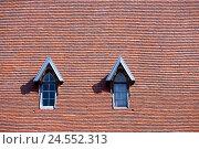 Купить «Roof, dormers,», фото № 24552313, снято 15 сентября 2009 г. (c) mauritius images / Фотобанк Лори