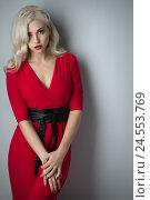 Купить «Beautiful girl with hair the evening», фото № 24553769, снято 2 декабря 2016 г. (c) Типляшина Евгения / Фотобанк Лори