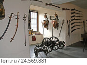 Купить «Germany, Hessen, Runkel in the Lahn, castle, showroom, weapons, Runkel, room, guns, dagger, weapons collection, nobody,», фото № 24569881, снято 4 февраля 2011 г. (c) mauritius images / Фотобанк Лори