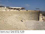 Купить «Cyprus, Greek part, Kourion, amphitheatre,», фото № 24572129, снято 14 августа 2018 г. (c) mauritius images / Фотобанк Лори
