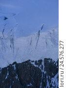 Купить «Switzerland, Valais, Cerium-weakly, small Matterhorn, glacier rupture,», фото № 24576277, снято 28 октября 2008 г. (c) mauritius images / Фотобанк Лори