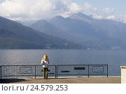 Купить «Italy, Northern Italy, Lago Maggiore, lake, Luino, promenade, mountains,», фото № 24579253, снято 7 января 2010 г. (c) mauritius images / Фотобанк Лори