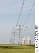Купить «Germany, Bavaria, Lower Franconia, field Grafenrhein, nuclear power plant,», фото № 24579881, снято 8 апреля 2008 г. (c) mauritius images / Фотобанк Лори