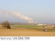 Купить «Field scenery, nuclear power plant field Grafenrhein, Lower Franconia, Bavarians, Germany,», фото № 24584789, снято 23 марта 2009 г. (c) mauritius images / Фотобанк Лори