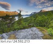 Купить «Norway, Sör-Tröndelag, to troll homes, Gjevillvatnet,», фото № 24592213, снято 7 июля 2010 г. (c) mauritius images / Фотобанк Лори
